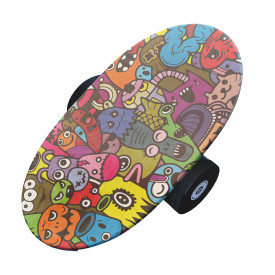 Balance Board cu cilindru, 74x38cm, Funny Monsters