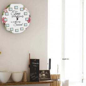 Ceas de perete Timpul petrecut cu familia, 40 cm, Craciun