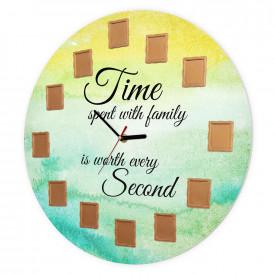 Ceas de perete Timpul petrecut cu familia, 40 cm, Vara