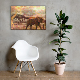 Tablou Canvas Africa - Wild Safari 60x90cm