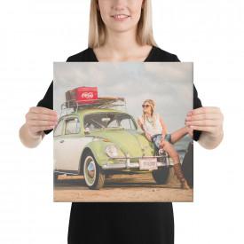 """Tablou canvas """"Beetle Lovers"""" 40x40cm"""