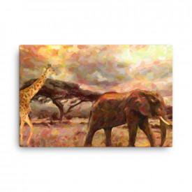 Tablou Canvas Africa - Wild Safari 60x90cm
