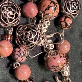 Desert Rose - set din pietre de Rodonit (unicat)
