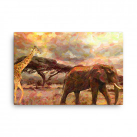 Tablou Canvas Africa Wild Safari, 60x90cm