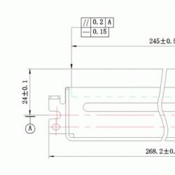 Wiper blade E230, E260, E250 Lexmark DC Select compatibil