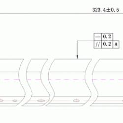 Wiper blade AR-450BL, CCLEZ0162FC31 Shar DC Select compatibil
