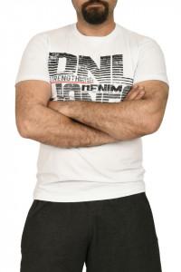 Tricou barbat cu imprimeu DNL DENIM, alb