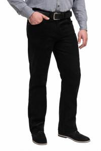 Pantalon raiat clasic, Forza, negru