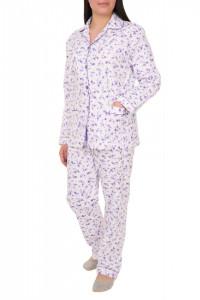 Pijamale dama cu nasturi, Amalia, mov