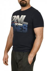 Tricou barbat cu imprimeu DNL DENIM, bleumarin