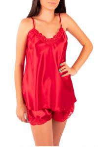 Pijama dama din satin, MissDore, rosu
