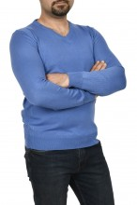 Pulover barbat, in anchior, albastru