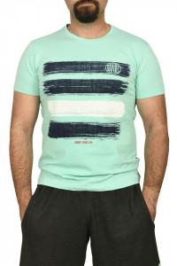 Tricou barbat cu imprimeu grafic, verde