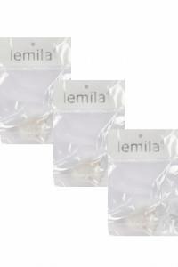 Bretele sutien transparente, 12 mm, Lemila, set trei perechi