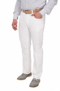 Pantaloni barbati, regular fit, alb