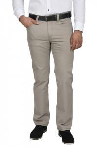 Pantaloni barbati, regular fit, gri deschis