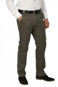 Pantaloni barbati, cu buzunare oblice, kaki prafuit