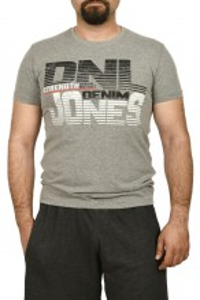 Tricou barbat cu imprimeu DNL DENIM, gri