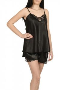Pijama dama din satin, MissDore, negru
