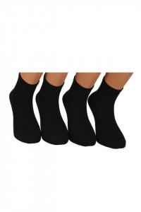 Sosete clasice unisex, lungi, set 4 perechi, negru