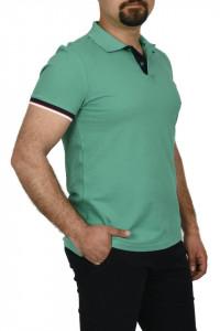 Tricou polo cu doi nasturi, Glo Story, verde