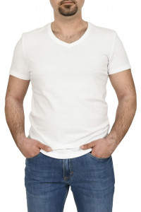 Tricou bumbac in anchior, Glo story, alb