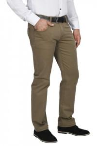 Pantaloni barbati, regular fit, maro caramel