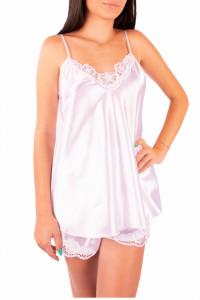 Pijama dama din satin, MissDore, alb