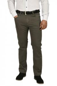 Pantaloni barbati, regular fit, kaki prafuit