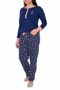 Pijamale dama cu nasturi, Heaven, bleumarin