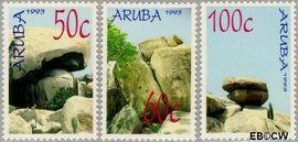 Aruba AR 119#121  1993 Rotsformaties  cent  Postfris