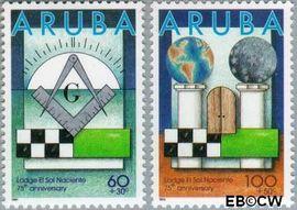 Aruba AR 180#181  1996 Lodge  cent  Postfris