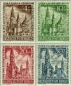 Berlin ber 106#109  1953 Kaiser Wilhelm- Gedächtniskirche  Postfris