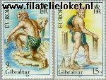 Gibraltar gib 416#417  1981 C.E.P.T.- Folklore  Postfris