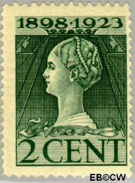 Nederland NL 121  1923 Koningin Wilhelmina- Regeringsjubileum 2 cent  Postfris