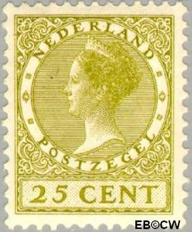 Nederland NL 192  1927 Koningin Wilhelmina- Type 'Veth' 25 cent  Postfris