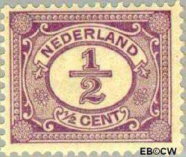 Nederland NL 50  1899 Cijfer type 'Vürtheim' ½ cent  Postfris