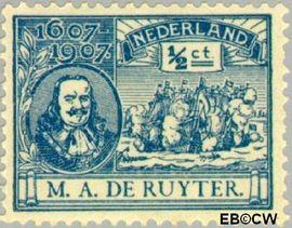 Nederland NL 87  1907 Ruyter, M.A. De ½ cent  Postfris