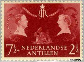 Nederlandse Antillen NA 253  1955 Koninklijk bezoek 20 cent  Postfris