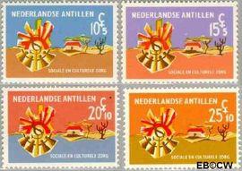 Nederlandse Antillen NA 396#399  1968 Sociale zorg 15+5 cent  Postfris