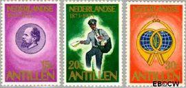 Nederlandse Antillen NA 472#474  1973 Postzegeljubileum 40+18 cent  Postfris