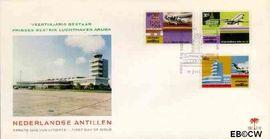 Nederlandse Antillen NA E92  1975 Luchthaven Aruba 20+10 cent  FDC zonder adres