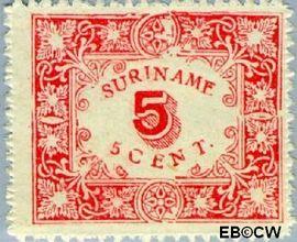 Suriname SU 59  1909 Hulpuitgifte 5 cent  Gestempeld