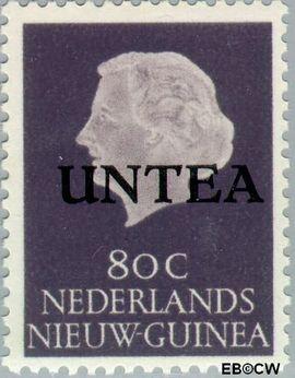 West-Nieuw-Guinea NG WNG18  1962 UNTEA opdruk 80 cent  Gestempeld