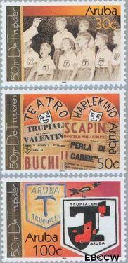 Aruba AR 297#299  2003 De Trupialen  cent  Postfris