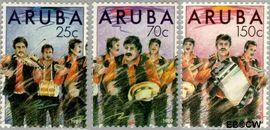 Aruba AR 67#69  1989 Dande/Nieuwjaar  cent  Postfris