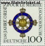Bundesrepublik BRD 1613#  1992 Orden 'Pour le mérite'  Postfris