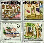 Gibraltar gib 418#421  1981 Franciscaner klooster  Postfris