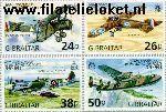 Gibraltar gib 826#829  1998 R.A.F.A.  Postfris
