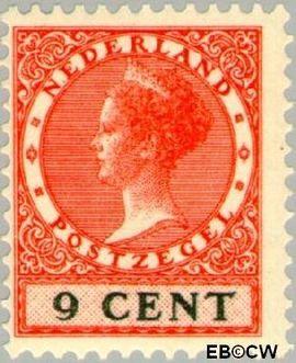 Nederland NL 152  1926 Koningin Wilhelmina- Type 'Veth' 9 cent  Postfris